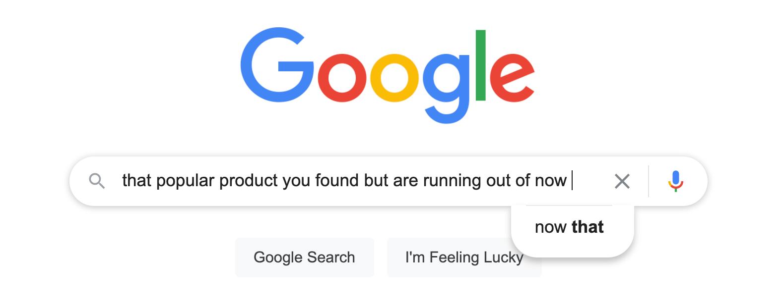 Amazon product hunting on Google