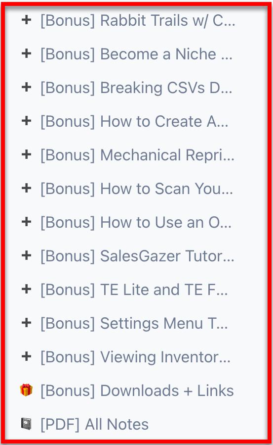 OA Challenge Bonus Videos